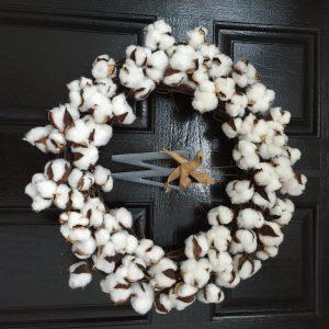 Southern Diy Cotton Boll Wreath Southern Bon Vivant
