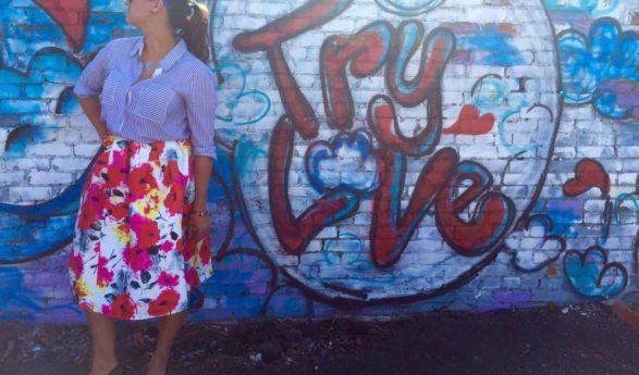Bright Colors + a Bright Wall = L.O.V.E.